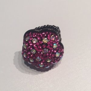Jewelry - Pink Crystals Flower Princess Ring, Stretchy Band